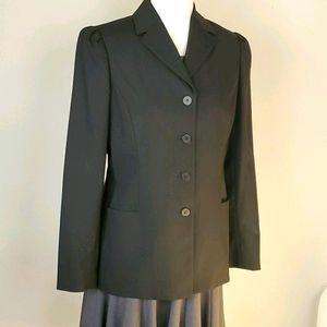 ie four button blazer jacket black Sz 6